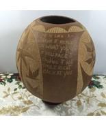 Jamaica Paradise Coconut Shell Bowl Folk Art Figurine Glenvill Hand Craf... - $33.49