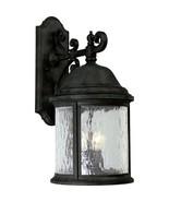 Wall Lantern Light Water-Seeded Glass Textured Black Progress Lighting P... - $173.01