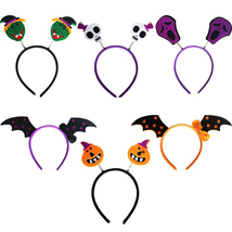 Pumpkin/Witch/Skull/Devil/Bat Wing Hairband Halloween Cosplay Hair Clasp... - $12.56