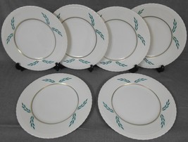 Set (6) Hanover China CORONATION PATTERN Dinner Plates - $69.29