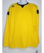 ADIDAS Climalite Warm Crew Jersey Shirt Long Sleeve XL Yellow Black NEW ... - $35.99