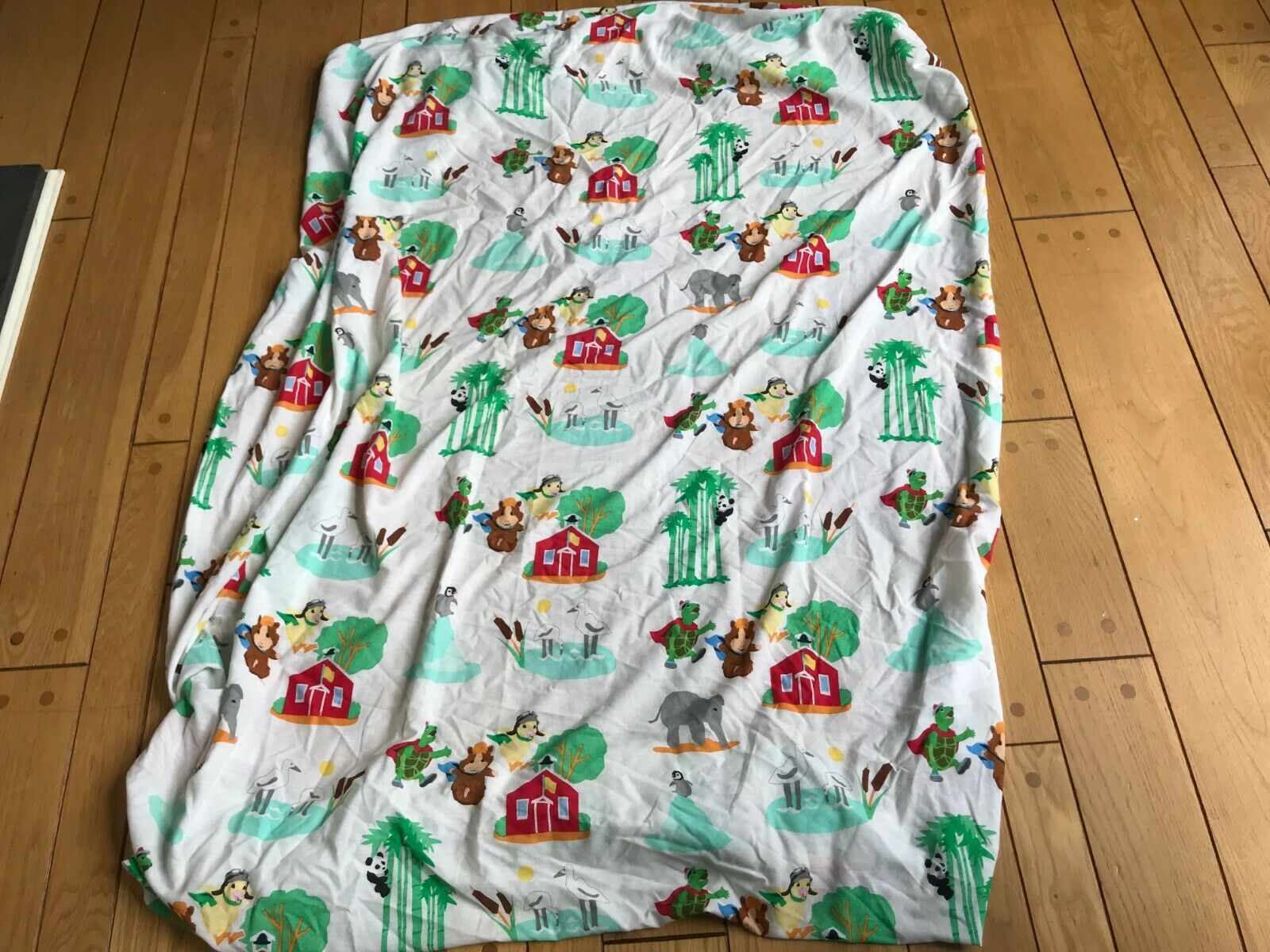 Nick Jr 2008 Wonder Pets TWIN Size Fitted Bed Sheet Ming Tuck Linny School House - $24.07