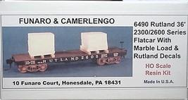 Funaro & Camerlengo HO Rutland 2300/2600 Flatcar with Marble Load,  Kit 6490 image 1
