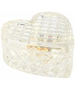 Illuminated Heart Shaped Faceted Glass Keepsake Jar by Valerie / Clear  ... - $43.64