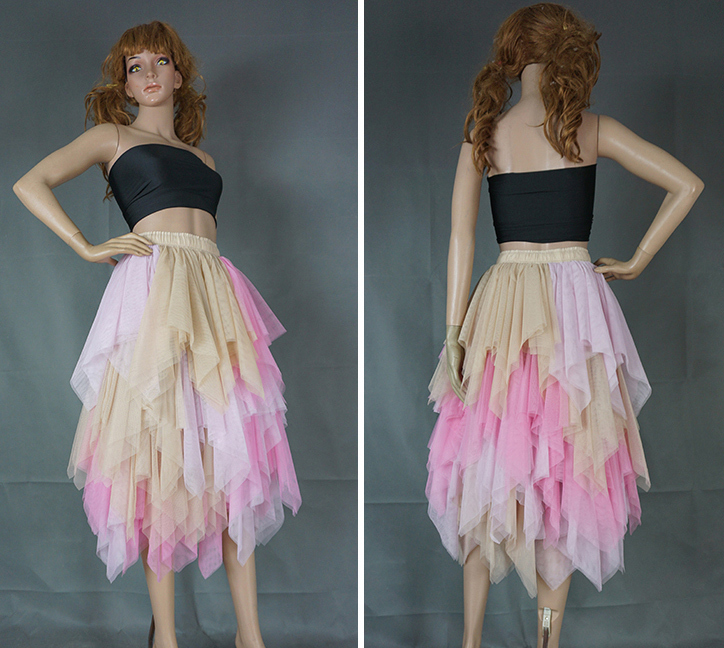 Irregular tulle blush 12