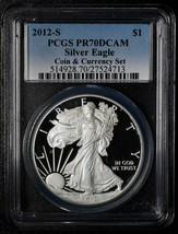 2012S American Silver Eagle Ultra Cameo PR70DCAM PF70 Coin Currency Set Lot A563