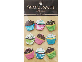 Spare Parts Cupcake Bling Brads #71708