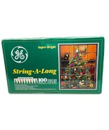 GE Super Bright String A Long Color 100 Indoor Outdoor Light Set Miniatu... - $32.66