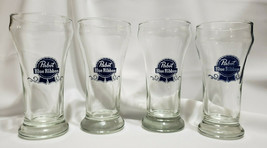 Vintage Pabst Blue Ribbon Beer Glasses by Libbey Glass - Set of 4, Circa... - $15.75