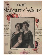 Sheet Music - The Naughty Waltz ~ Sol P Levy ~ Edwin Stanley ~ 1920 - $18.76