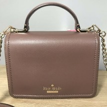 Kate Spade Maisie Patterson Drive Satchel Crossbody Brown Leather Women'... - $105.98 CAD