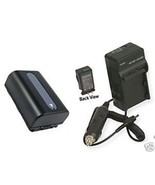 Battery +Charger for Sony DCR-SX43ES DCR-SX43R DCRSX43R - $35.74