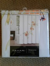 "Tahari Home SHOWER CURTAIN Martina Floral Yellow Green White 72""x72"" NEW - $25.30"