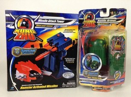Kung Zhu Missile Attack Tower and Battle Armor Lot Special Forces Zhu Zhu New - $17.77