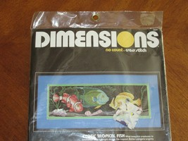 Dimensions Exotic Tropical Fish No Count Cross Stitch Kit #3944 Vintage ... - $7.99