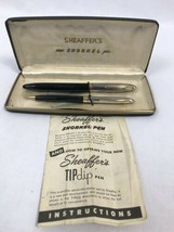Vintage 1950's Sheaffer's Snorkel Clipper Set, Pen and Pencil Set in Box - $123.49