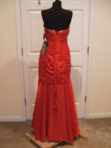 nwt $289 jump apparel ruched beaded prom pagent stage formal ocassion gown 17/18