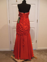 nwt $289 jump apparel ruched beaded prom pagent stage formal ocassion gown 17/18 image 3
