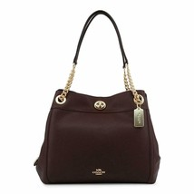 NWT COACH EDIE 31 TURNLOCK LEATHER SHOULDER BAG OXBLOOD - $251.54