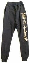 BLTEE Brian Lichtenberg BALLIN Sweatpants XS Black Gold Low Hanging Streetwear - $19.79