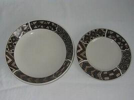 Sakura Stoneware 1 Bread Plate & 1 Cereal Soup Bowl Vtg 1996 Crete Sue Zipkin - $19.79