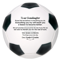 Custom Full Size Soccer Ball To Our Granddaughter Birthday, Christmas Gift - $59.95