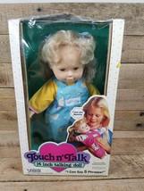 """Touch N Talk Touch n'Talk 14"""" Talking Doll by Uneeda Blond Hair Doll W Box - $29.65"""