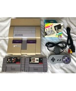 ☆ Super Nintendo System Console Bundle With 2 SNES Games Lot Tested Work... - $54.00