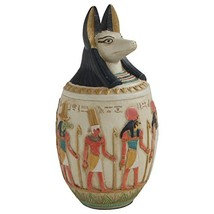 Egyptian Canopic Jar of Duamutef Statue, 10 Inches Tall - $71.72