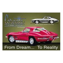 CHEVY, Corvette Stingray Ad Tin Sign Reproduction, NEW UNUSED - $7.84