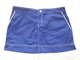 Merona Mini Skirt Navy With White Stitching-Size M - $12.99