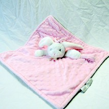 Blankets & Beyond Pink Bunny Lovey Baby Blanket Pacifier Holder Lovie Plush - $21.99