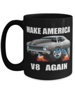 1971 Chevy Nova V8 Muscle Car CARtoons - Big 15 oz Black Coffee Mug  - £14.53 GBP