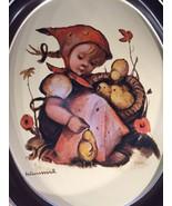 VTG Chick-Girl TR-H371 HUMMEL Oval Metal Tray 1983 ARS : Orig Hummel People - $13.56