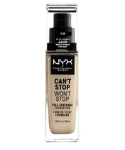 NYX Can't Stop Won't Stop 24-Hour Foundation 30ml - PALE - $32.57