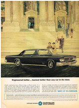 Vintage 1962 Magazine Ad Chrysler Engineered Better Backed Than Any Car In Class - $5.93