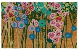 """1'6"""" x 2'6"""" Floral Vacation Tropical Rectangle Shape Door Mat Green Opalhouse  image 1"""