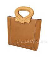 HERMES Document Bag 28 Barenia Fauve Natural #Q Handbag France Authentic... - $1,814.68