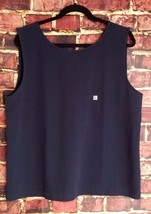 NWT! Ann Taylor Factory Sleeveless V-Back Navy Top - Size XL - $21.83