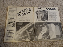 Kristy Mcnichol teen magazine pinup clipping Kristy's got wheels Tiger Beat Bop