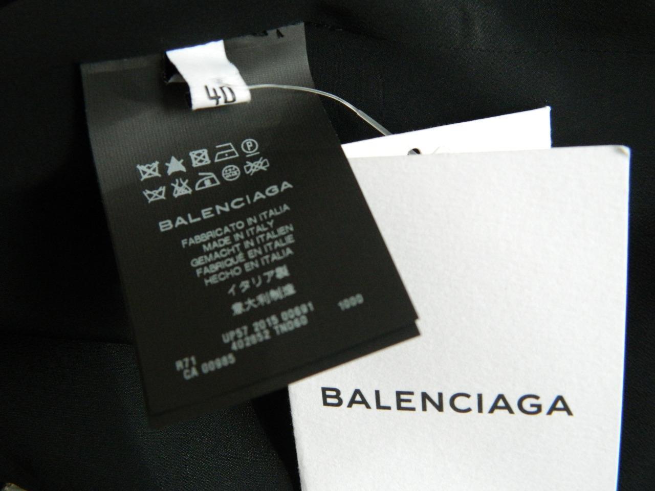 Balenciaga Dress Silver Chain Straps & Detail Black Slip Style NWT $1775 40