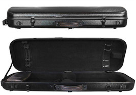TONARELI Fiberglass Violin 4/4 OBLONG Hard Case - BLACK - Customer Rtrn - $159.99