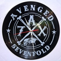 VINYL PLANET Wall Clock AVENGED SEVENFOLD  Home Record Unique Decor upcy... - $26.93