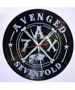 VINYL PLANET Wall Clock AVENGED SEVENFOLD  Home Record Unique Decor upcy... - $26.93
