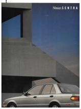 1991 Nissan SENTRA sales brochure catalog 1st Edition US 91 XE GXE SE SE-R - $8.00