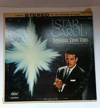 Tennessee Ernie Ford The Star Carol vinyl record Vintage Christmas Favor... - $10.39