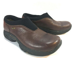 MERRELL Primo brown leather comfort walking loafers  euro clogs 8 FREE S... - $54.40