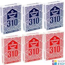 6 DECKS COPAG 310 JUMBO POKER CARDS PAPER 3 BLUE 3 RED NEW - $39.69
