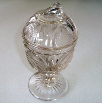 Metropolitan Museum Art Imperial Glass Flint Magnet/Grape Pattern Compote - $39.99