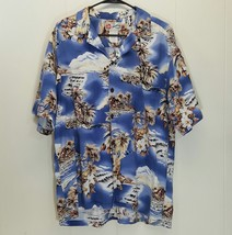 Hilo Hattie XL Hawaiian Shirt Button Front Hawaii Hibiscus Beach Volcano... - $24.70